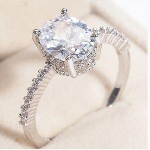 Jewelry - 14k Gold 3ct Halo Diamond Wedding Ring